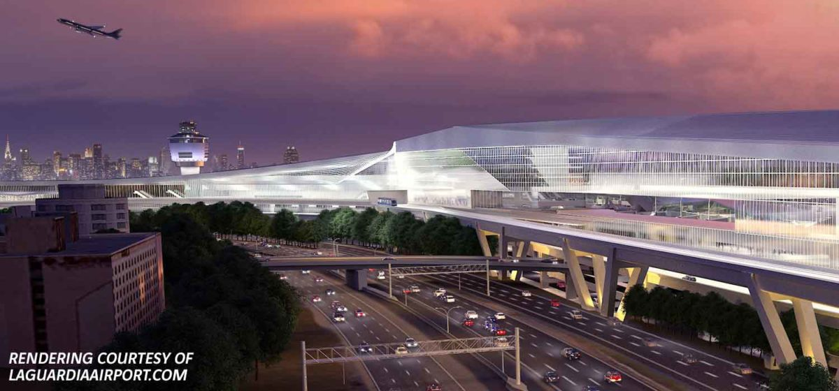rendering of laguardia airport new terminal b area