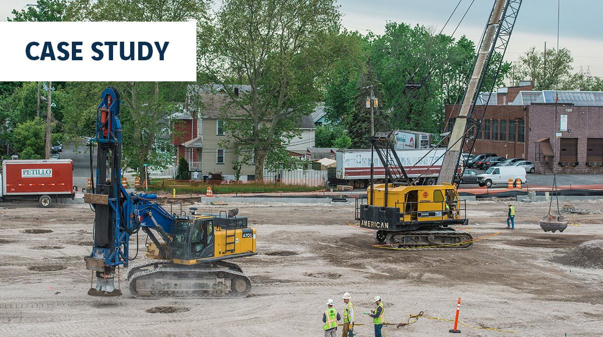 Dynamic Compaction, Rapid Impact Compaction and CMC Rigid Inclusions at Metropoint One Bell Drive in Ridgeville, New Jersey